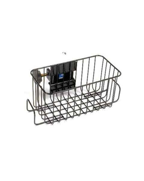 Pedigo Infusion Pump Black Powder Coated Steel Wire Basket - Large
