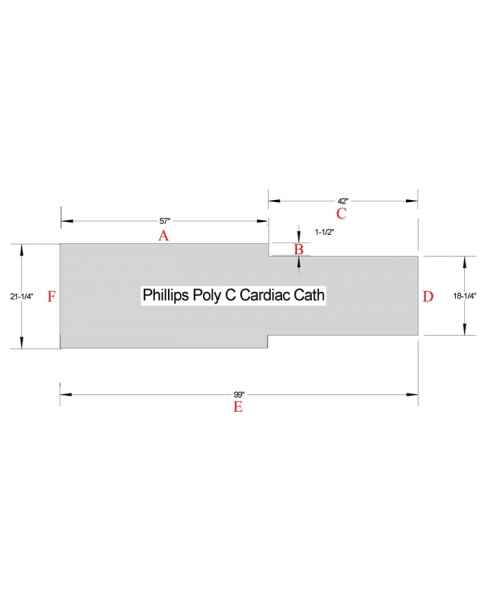 Philips Poly C Cardiac Cath Table Pad