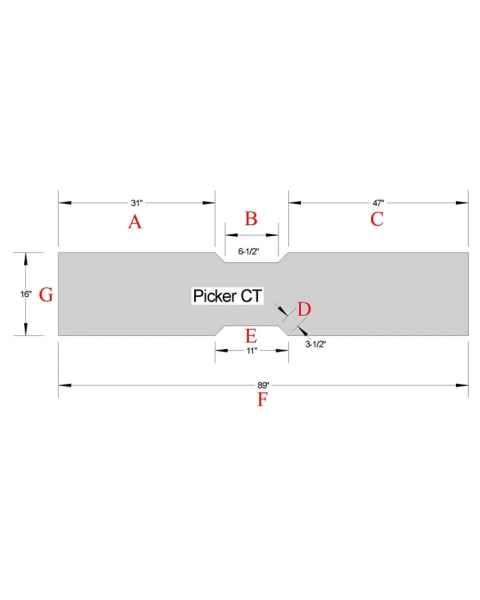 Picker CT Foam Table Pad PK-8916-01