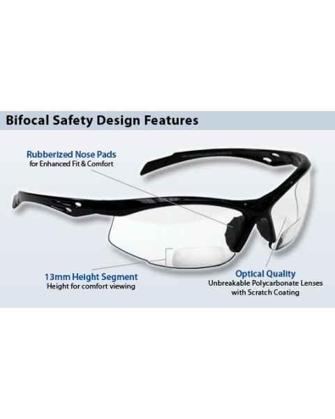 Bifocal Safety Glasses SB-9000 with Clear Lens
