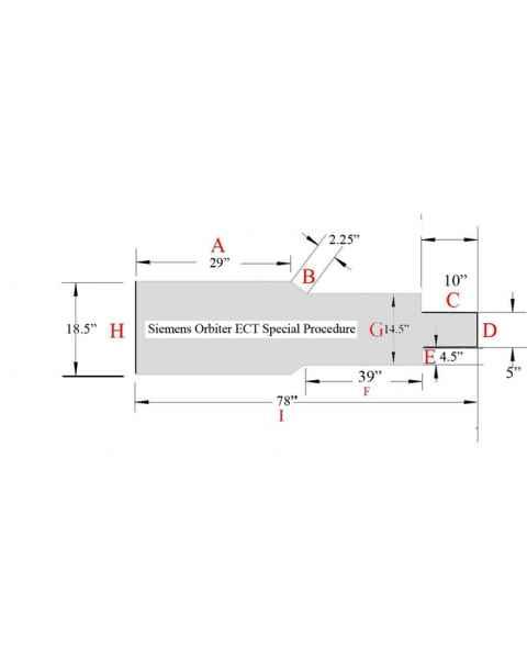 Siemens Orbiter ECT Special Procedure Table Pad