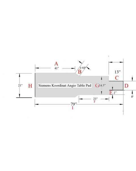 Siemens Koordinat Angio Table Pad