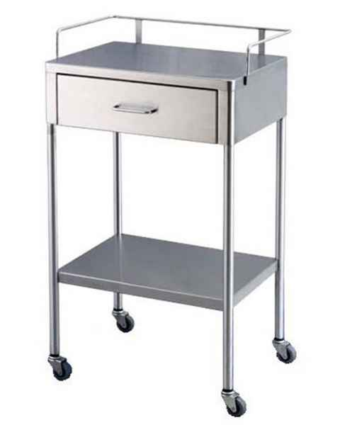 Stainless Steel Utility Table with One Drawers