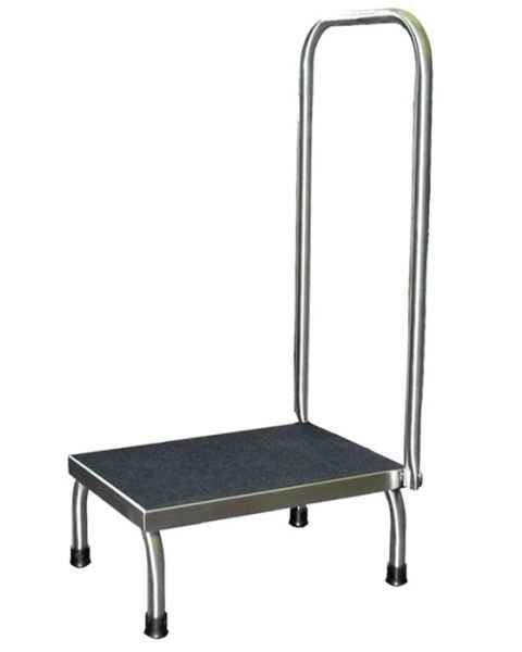 Stainless Steel Step Stool with Handrail