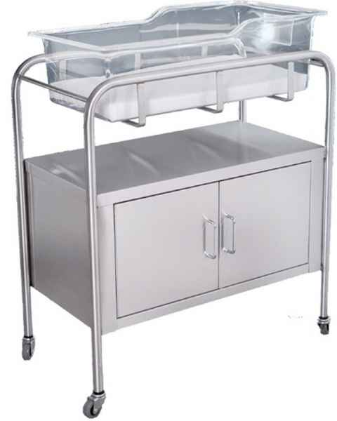 Stainless Steel Bassinet with Cabinet