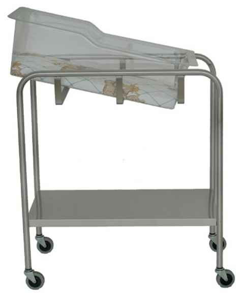 Stainless Steel Bassinet with Shelf