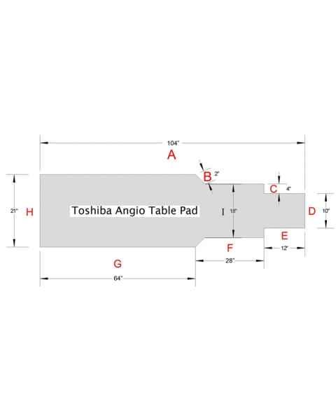 Toshiba Angio Table Pad