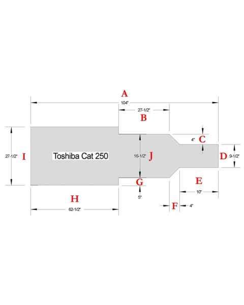 Toshiba Cat 250 CT Table Pad