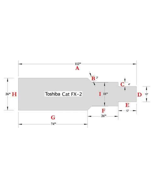 Toshiba Cat FX-2 Table Pad