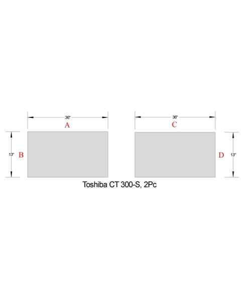 "Toshiba CT 300-S Two Piece Table Pad Set - 36"" L x 13"" W"