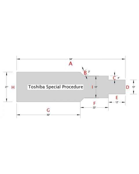 Toshiba Special Procedure Foam Table Pad TS-9421-01