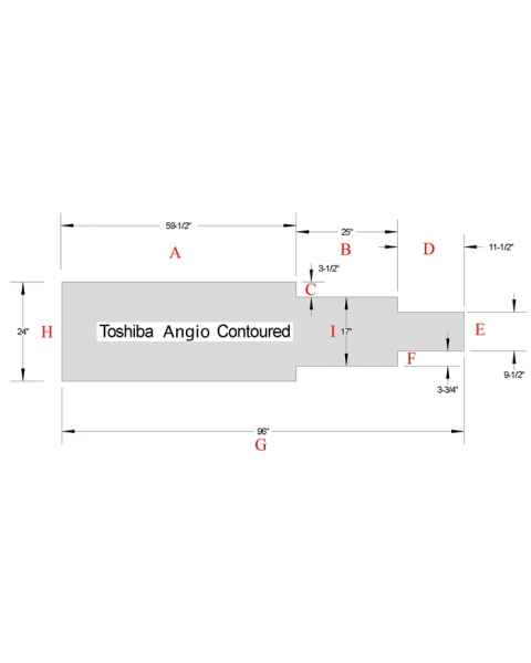 Toshiba Angio Contoured Table Pad