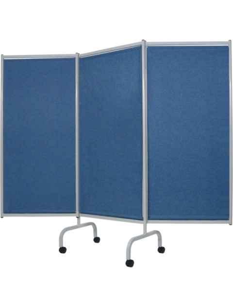 3 Panel Steel Frame Designer Folding Privacy Screen