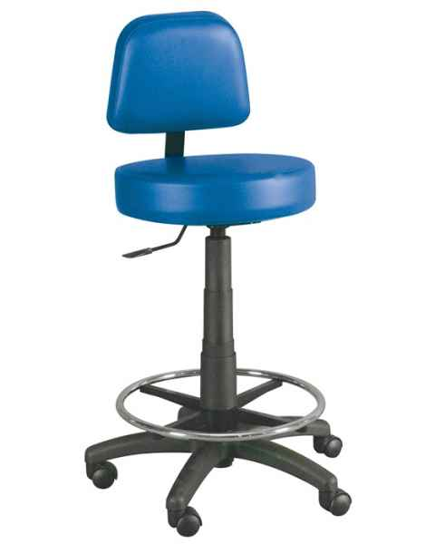 Winco 4380 Gas Lift Lab Stool With Adjustable Backrest