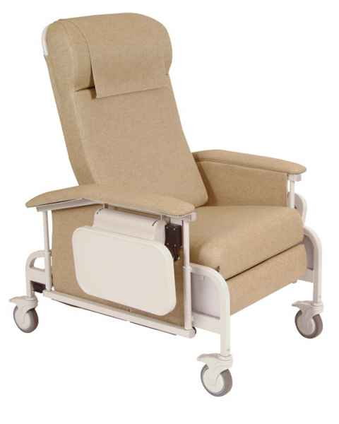 Drop Arm CareCliner with Nylon Casters