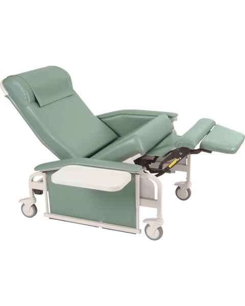 Extra Large Drop Arm CareCliner with Nylon Casters