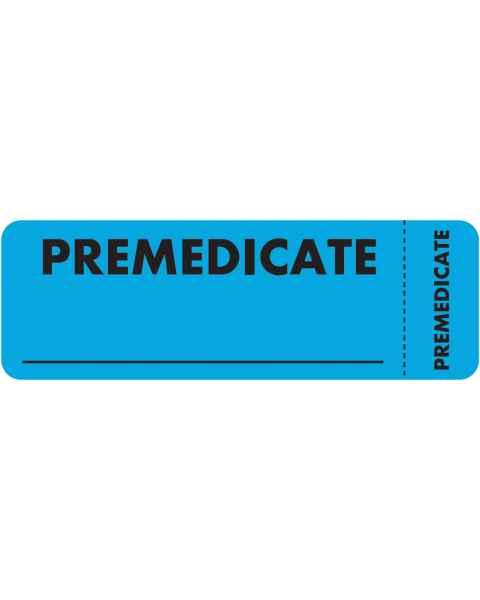 "PREMEDICATE Label - Size 3"" x 1"" - Wrap Around Style"