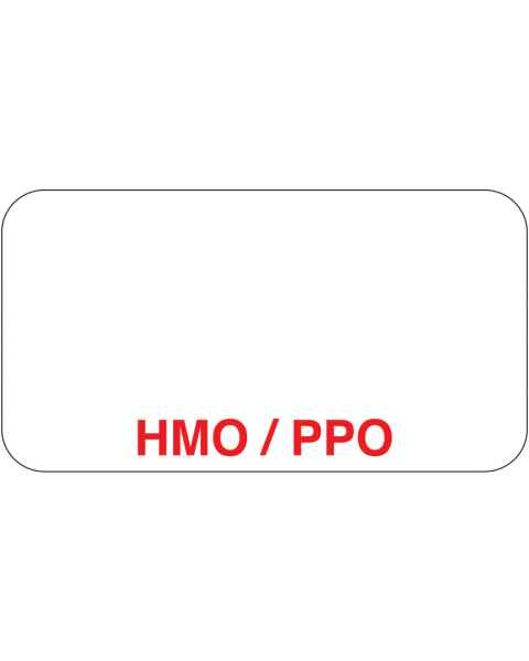 "HMO / PPO Label - Size 1 5/8""W x 7/8""H"