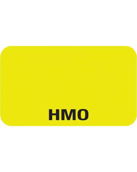 """HMO Label - Size 1 1/2""""W x 7/8""""H"""