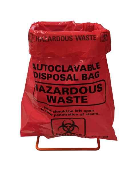 MTC Bio A9004-SK Benchtop Biohazard Disposal Bag & Holder Set