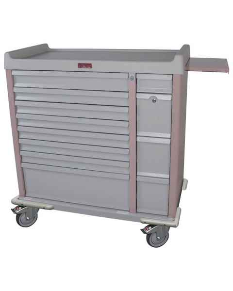 Harloff AL294BOX OptimAL Line Aluminum 294 Unit-Dose Box Medication Cart with Key Locks