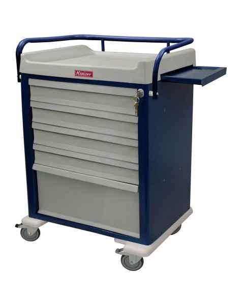 Harloff AL48MDBIN OptimAL Line Aluminum 48 Bin Multi-Dose Medication Cart with Key Lock