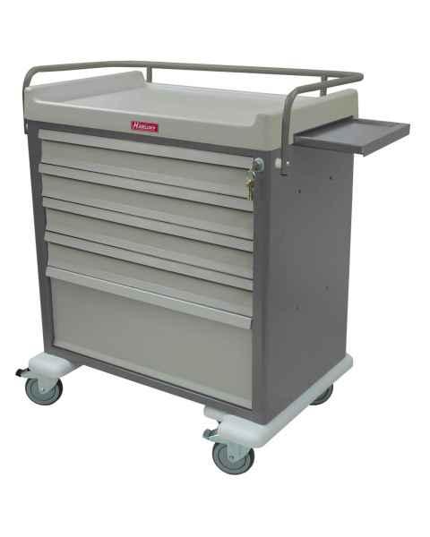 Harloff AL64MDBIN OptimAL Line Aluminum 64 Bin Multi-Dose Medication Cart with Key Lock