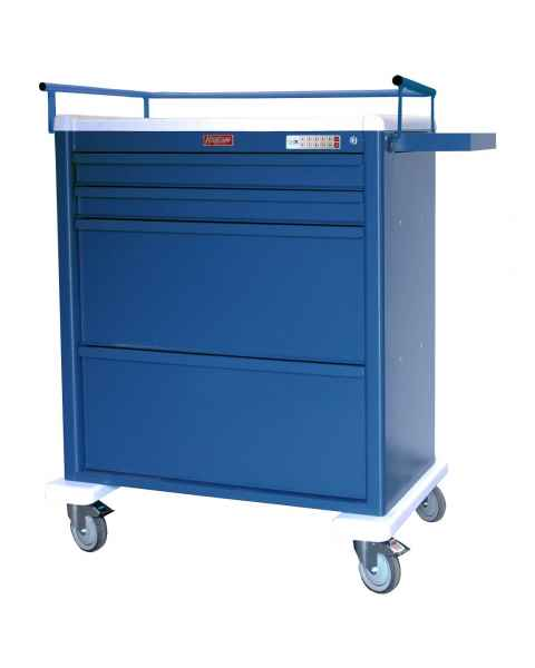 Harloff AL8W10EKC4DSP Aluminum Universal Line DISPILL Compatible Medication Cart with CompX Electronic Lock