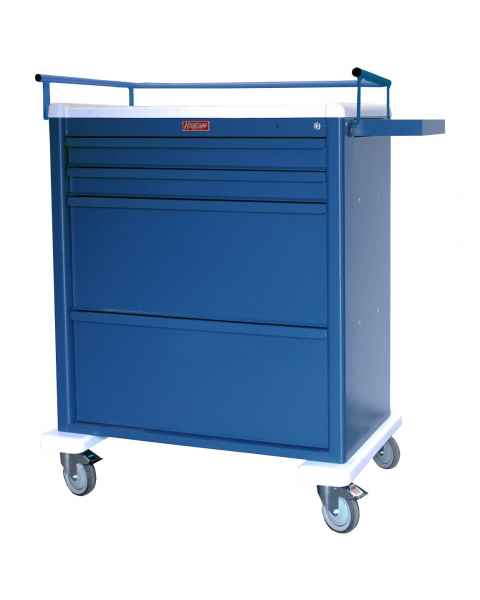 Harloff AL8W10K4DSP Aluminum Universal Line DISPILL® Compatible Medication Cart with Key Lock