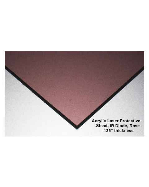 Protective Acrylic Sheet - IR Diode Rose