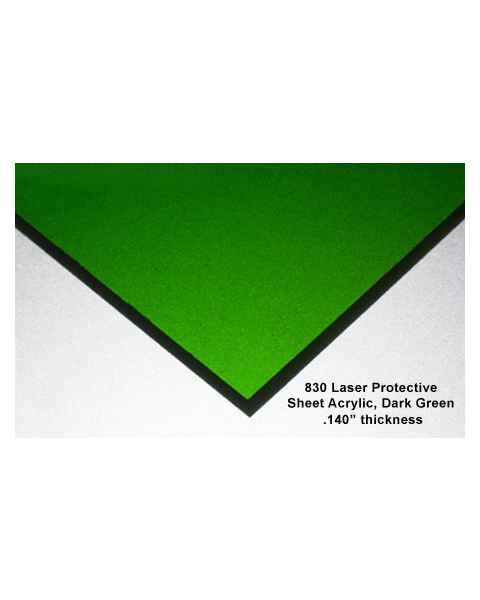 830 Laser Protective Acrylic Sheet - Dark Green