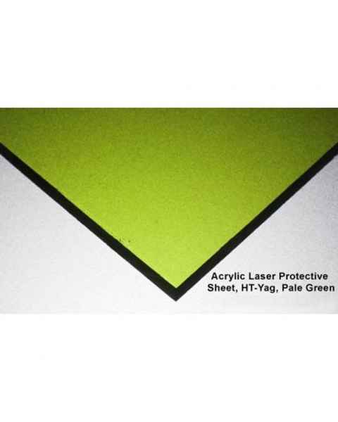 HT-Yag Laser Protective Acrylic Sheet - Pale Green