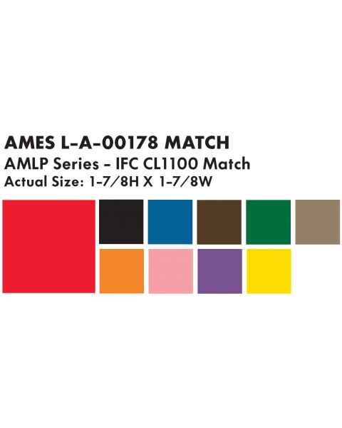 "Ames L-A-00178 AMLP Series Solid Color Roll Labels - 1 7/8""H x 1 7/8""W"