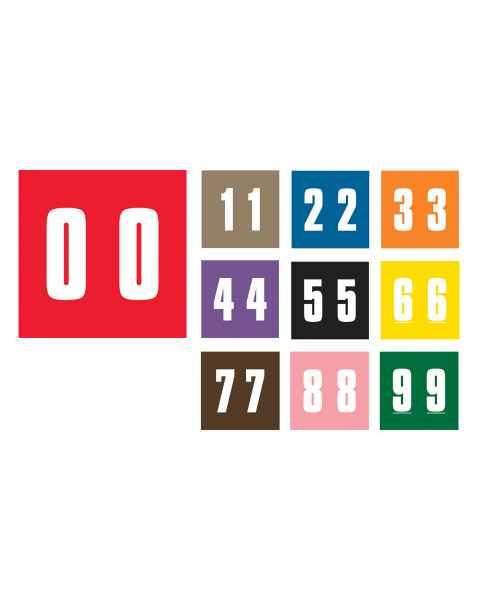 "AMES L-A-00178RL Match AMNP Series Numeric Color Code Roll Labels - 1 7/8""H x 1 7/8""W"
