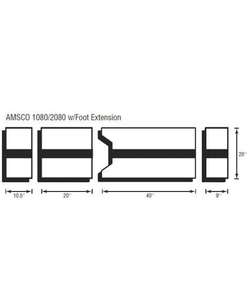 Amsco 1080/2080 4 Piece Table Pad Set