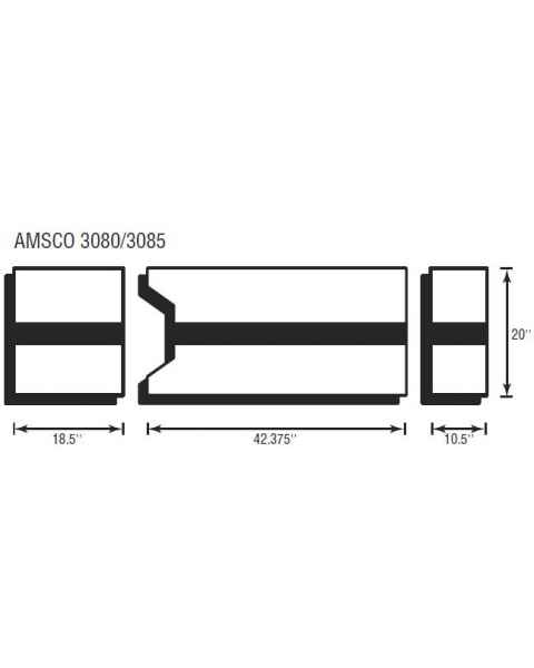Amsco 3080/3085 3 Piece Table Pad Set