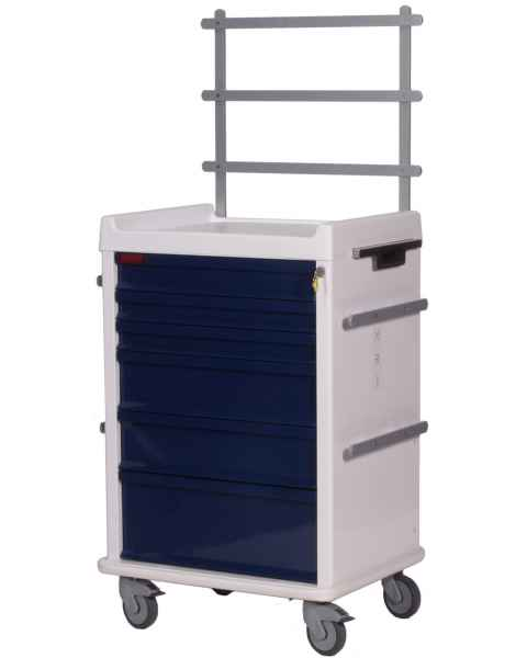 MRI Anesthesia Cart 6 Drawer - Specialty Package with Key Lock