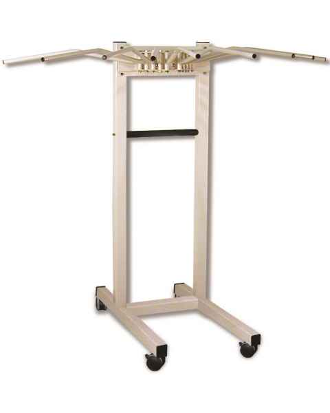 Standard Mobile Radiation Apron Rack - Ten Swing Arms