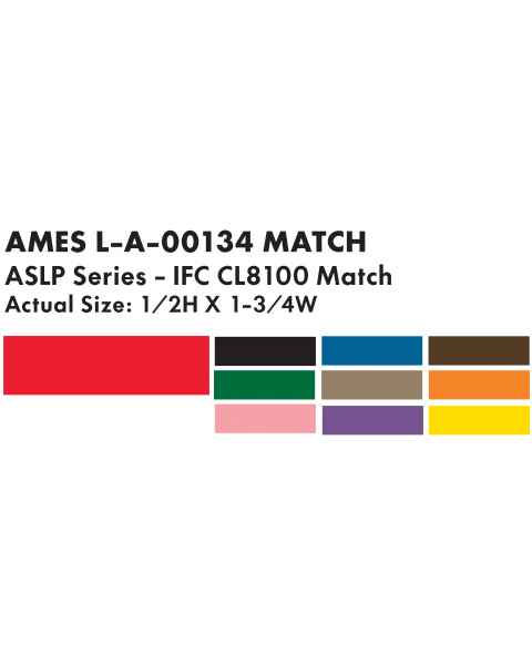 "Ames L-A-00134 Match ASLP Series Solid Color Roll Labels - 1/2""H x 1 3/4""W"