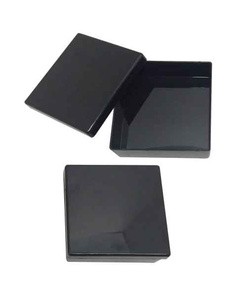 MTC Bio B1300-8BK Western Blot Box with Removable Lid - Opaque Black Polystyrene