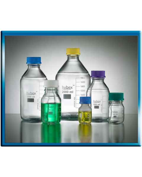 Hybex Media Storage Bottle - 1000ml - Assorted Caps