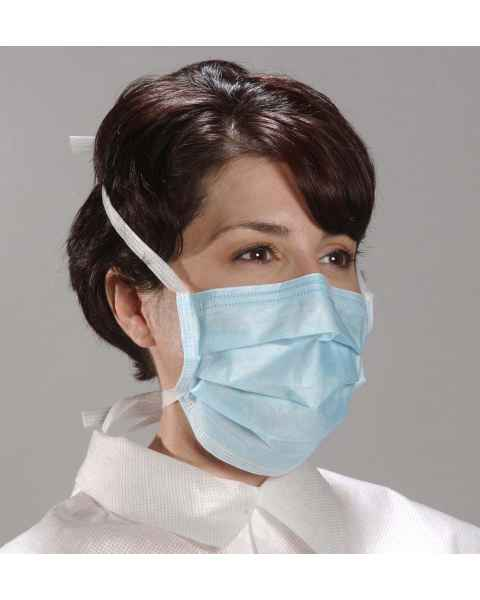 AlphaAir Mask with Poly Ties - Blue