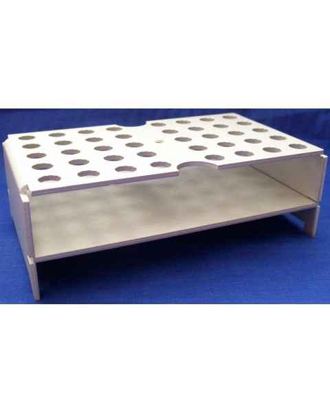 40-Place Keyed Rack - Anodized Aluminum