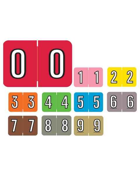 "Barkley FNBKM Match BRNM Series Numeric Color Code Roll Labels - 1""H x 1 1/2""W"