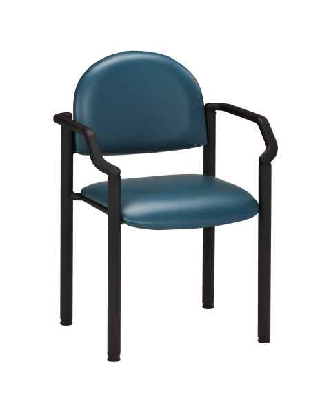 Premium Side Chair with Arms & Wall Guard