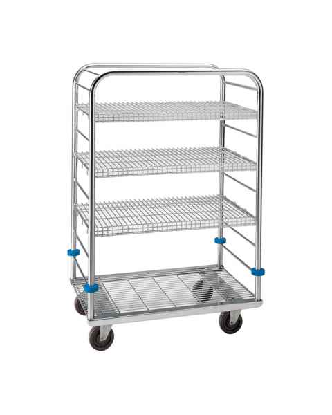 "Pedigo Stainless Steel Autoclave Cart - 55 3/8"" Height"