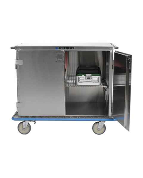 Pedigo Double Door Stainless Steel Surgical Case Cart