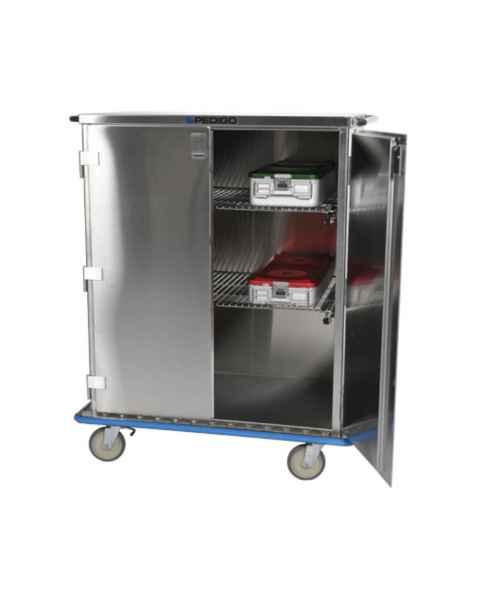 Pedigo Double Door Tall Stainless Steel Surgical Case Cart