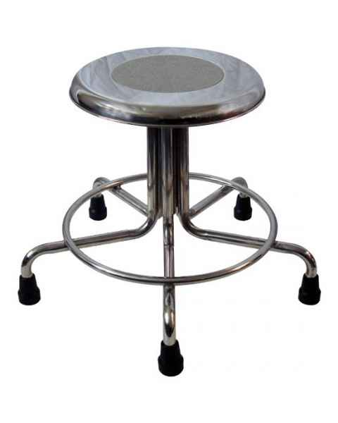 MRI Non-Magnetic Stainless Steel Stool with Rubber Tips