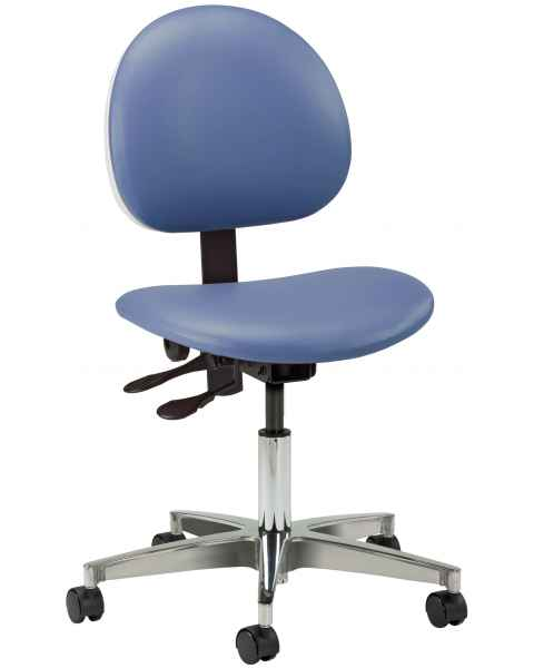 """5-Leg Pneumatic Contour Seat Office Chair With 24"""" Cast Aluminum Base"""